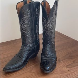 Lucchese 1883 Women's Ostrich Cowboy Boots